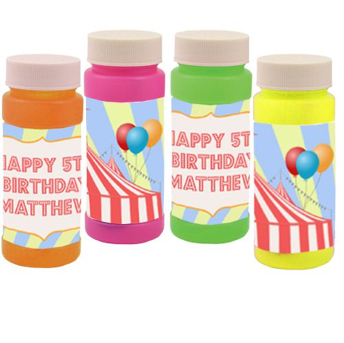 Personalised Bubbles - Circus - Pack of 6