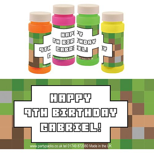 Personalised Bubbles - Pixel Blocks - Pack of 6