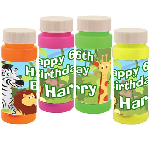 Personalised Bubbles - Wildlife - Pack of 6