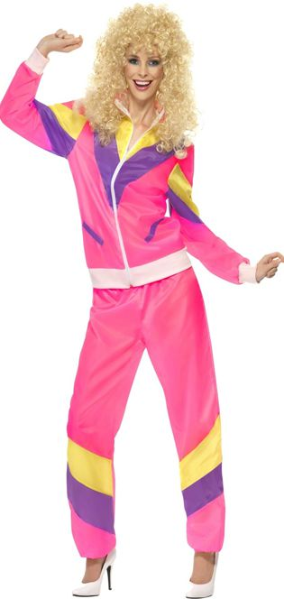 Click to view product details and reviews for 80s Pink Shell Suit Costume.