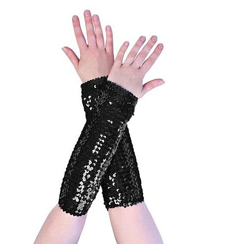 Black Sequin Arm Sleeves
