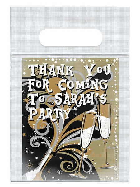 Click to view product details and reviews for Personalised New Years Bubbly Card Insert With Sealed Party Bag Each.