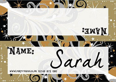 Click to view product details and reviews for New Years Bubbly Placecards Pack Of 8.