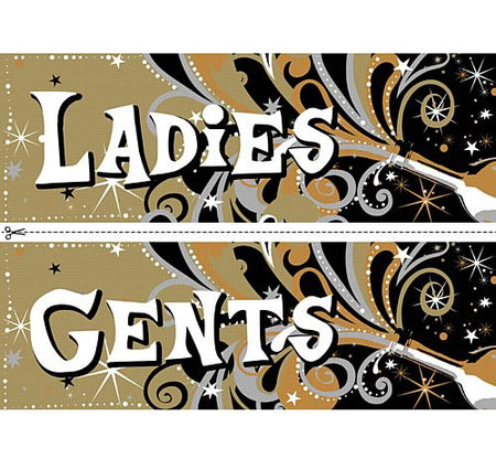 Click to view product details and reviews for New Years Bubbly Toilet Signs Ladies Gents.