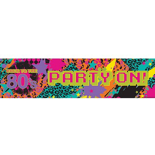 Back to the 80's Banner - 1.2m