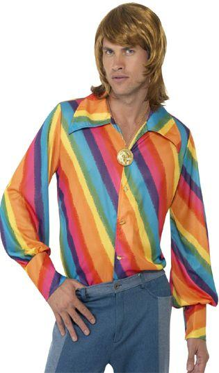 1970's Rainbow Colour Shirt