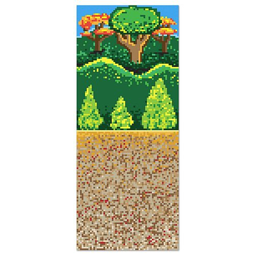 Forest 8-Bit Backdrop - 9.14m