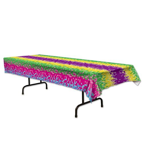 8-Bit Plastic Tablecloth - 2.74m