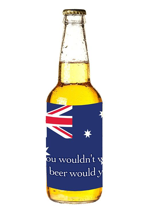 Australian Theme Drinks Bottle Labels - Sheet of 4