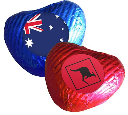Australian Heart Chocolates - Pack 24