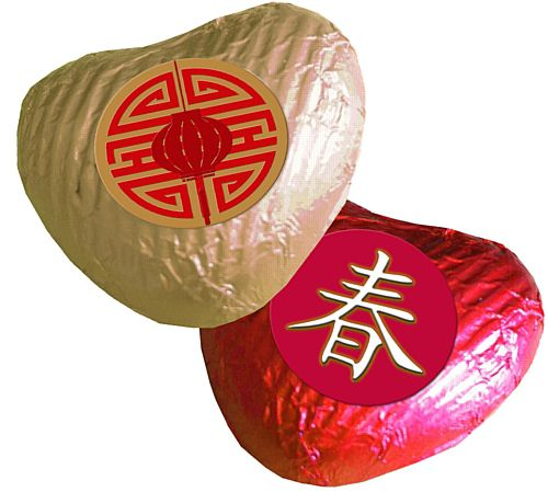 Chinese Heart Chocolates - Pack 24