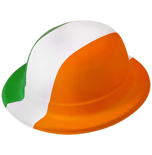 Plastic Irish Bowler Hat