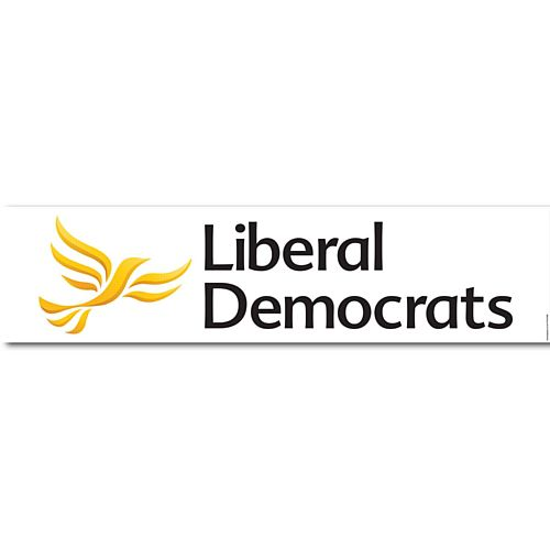 Liberal Democrat Party Banner - 1.2m