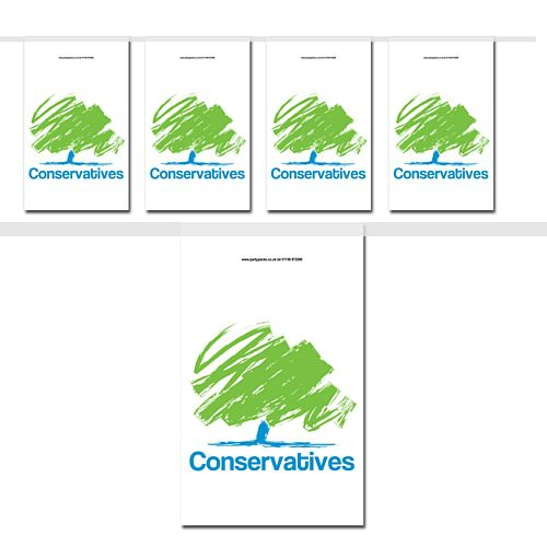 Conservatives Flag Interior Bunting - 2.4m