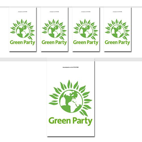 Green Party Flag Interior Bunting - 2.4m