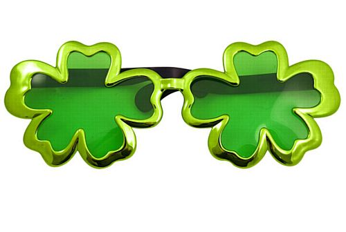 Giant Shamrock Glasses 28cm