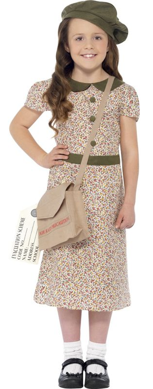 Evacuee Girl Dress Costume