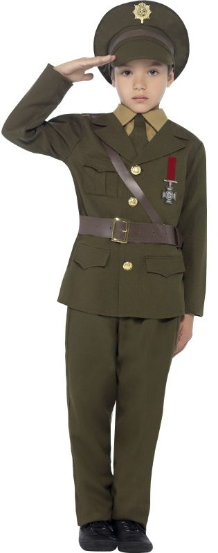 Army Officer Boy Costume