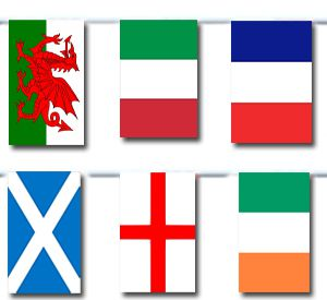 6 Nations Cloth Flag Bunting - 6m