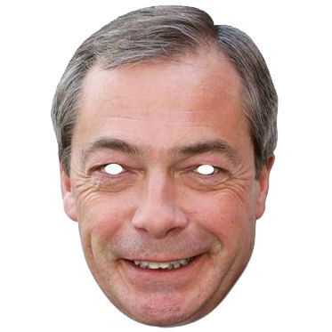 Nigel Farage Card Mask