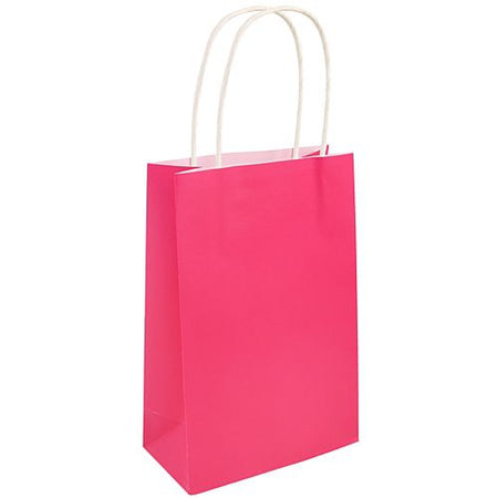 Bright Pink Paper Party Bags - 21cm - Each