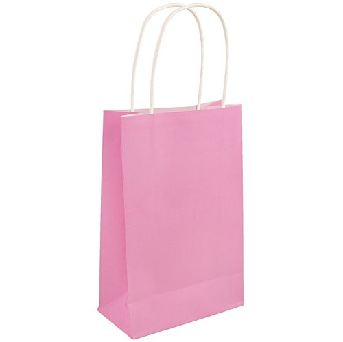 Light Pink Paper Party Bags - 21cm - Each