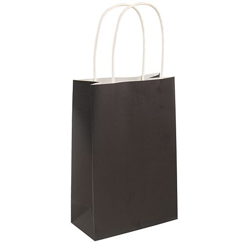 Black Paper Party Bags - 21cm - Each