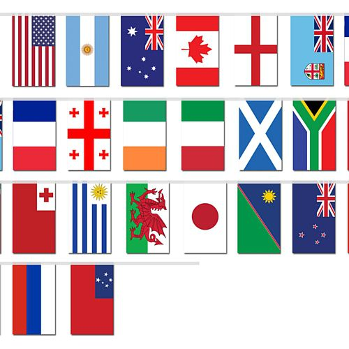 Rugby World Cup Japan 2019 Countries Cloth Flag Bunting - 20 Flags - 6m