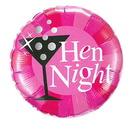 Click to view product details and reviews for Hen Night Pink Foil Balloon 18.