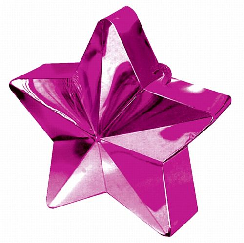 Hot Pink Star Balloon Weight - 6oz - 10cm