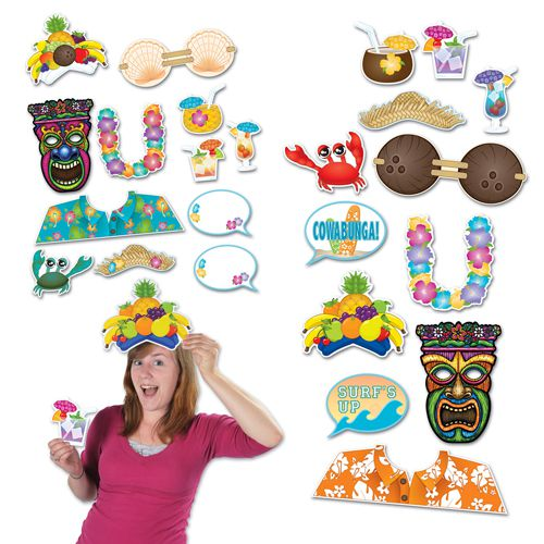 Luau Photo Props - Pack of 12