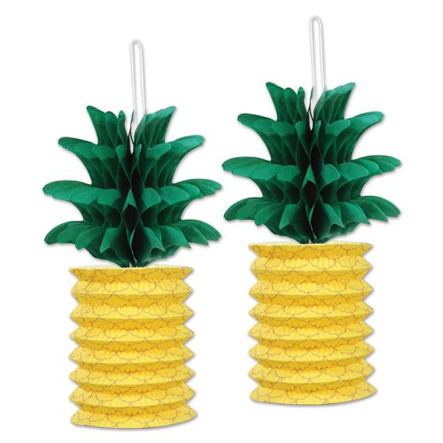 Pineapple Paper Lanterns - 25.4cm - Pack of 2