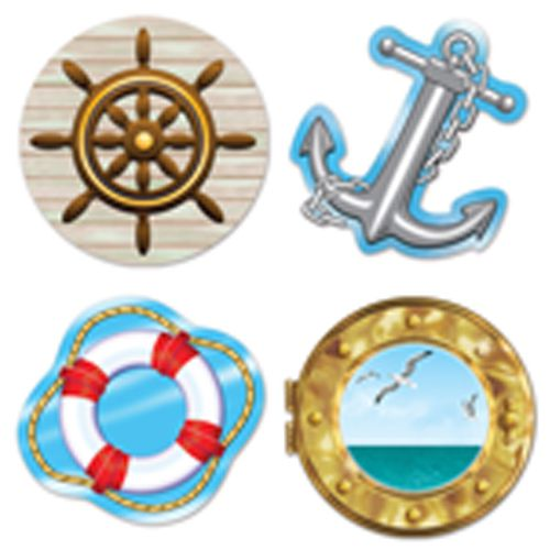Nautical Cutouts - 35cm - Pack of 4