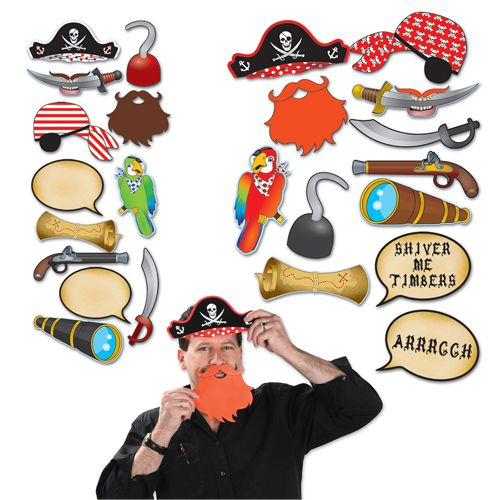 Pirate Selfie Kit - Pack of 12