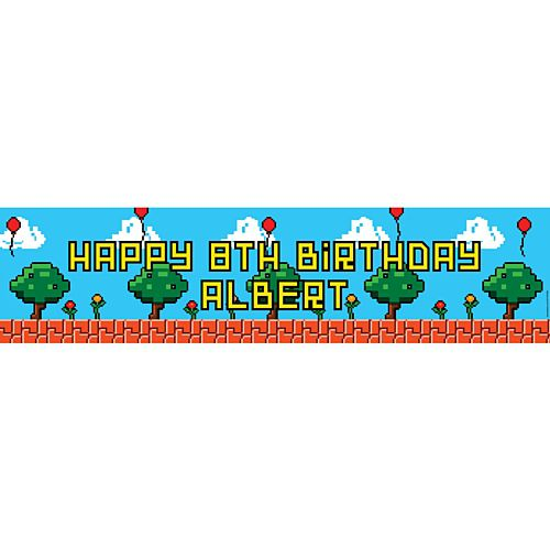 Video Game Personalised Banner - 120cm x 30cm
