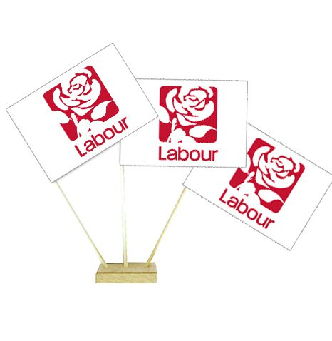 "Labour Party Table Flag 6"" on 10"" Pole"