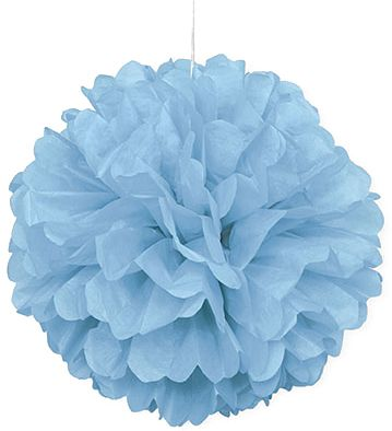 Pastel Powder Blue Pom Pom Decoration - 40cm - Each