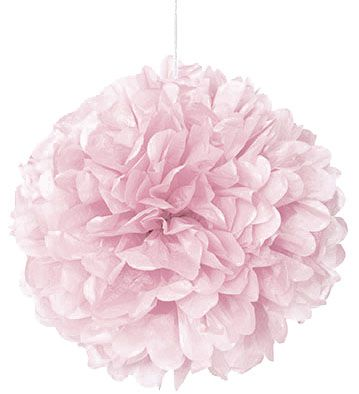 Lovely Pink Pom Pom Decoration - 40cm - Each