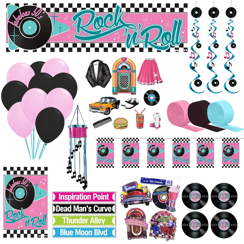 1950's Rock n Roll Decoration Party Pack