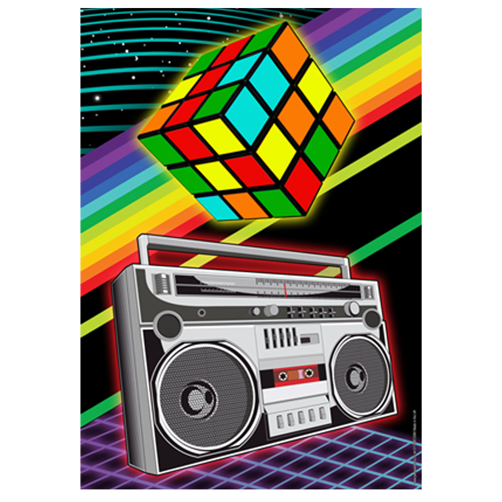 80's Puzzle Cube Poster Decoration - A3