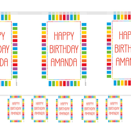 Personalised Rainbow Celebration Themed Bunting - 3m