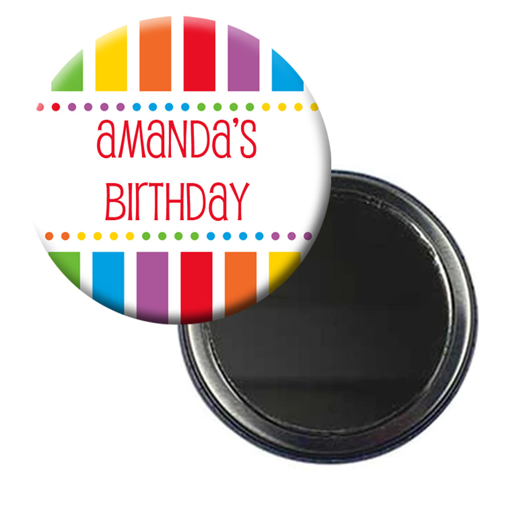 Personalised Rainbow Celebration Pocket Mirror - 58mm - Each