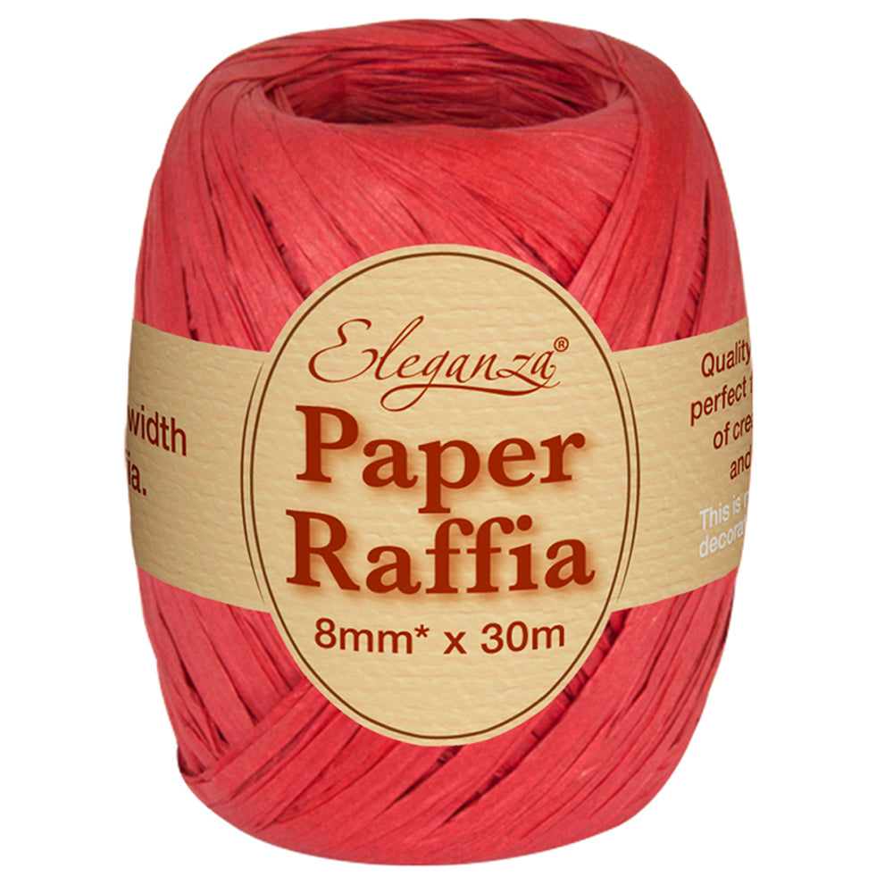 Roll of Red Paper Raffia - 30m