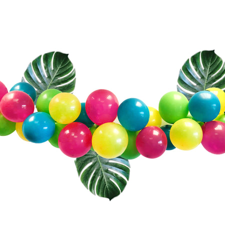 Tropical Balloon Arch With Palm Leaves DIY Kit - 2.5m