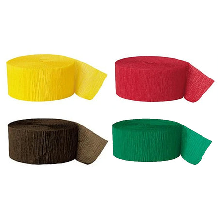 Reggae Color Green, Yellow, Red and Black Streamer Decoration Pack