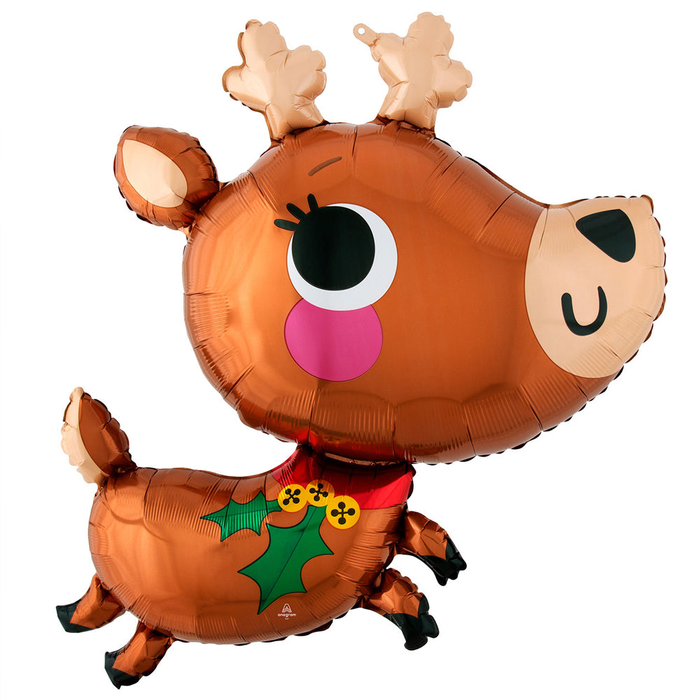 Cute Reindeer Foil Balloon - 30""