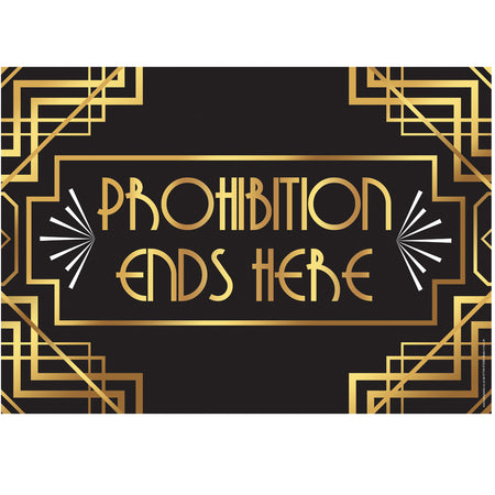 Prohibition Ends Here 1920's Poster - A3