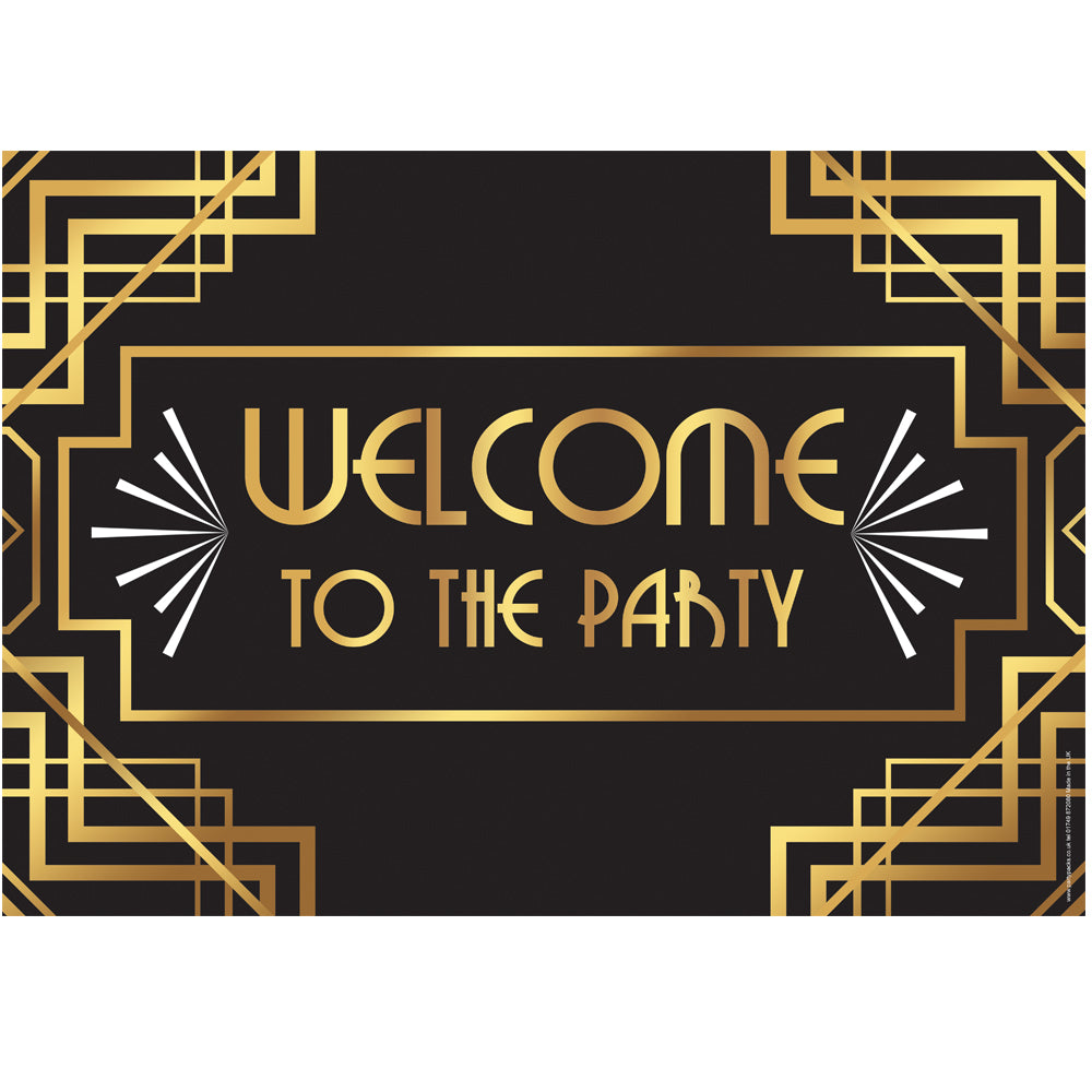 Welcome to the Party 1920's Poster - A3
