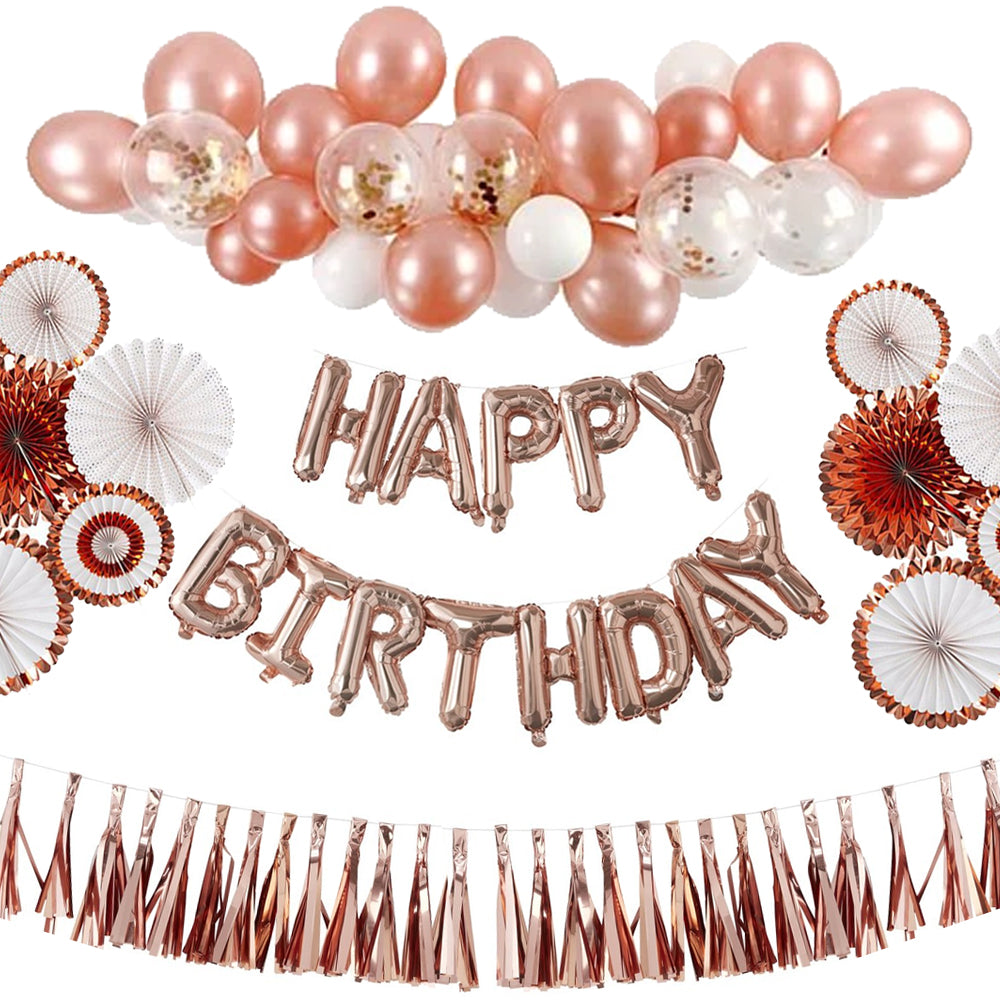 Rose Gold Birthday Deluxe Decoration Pack