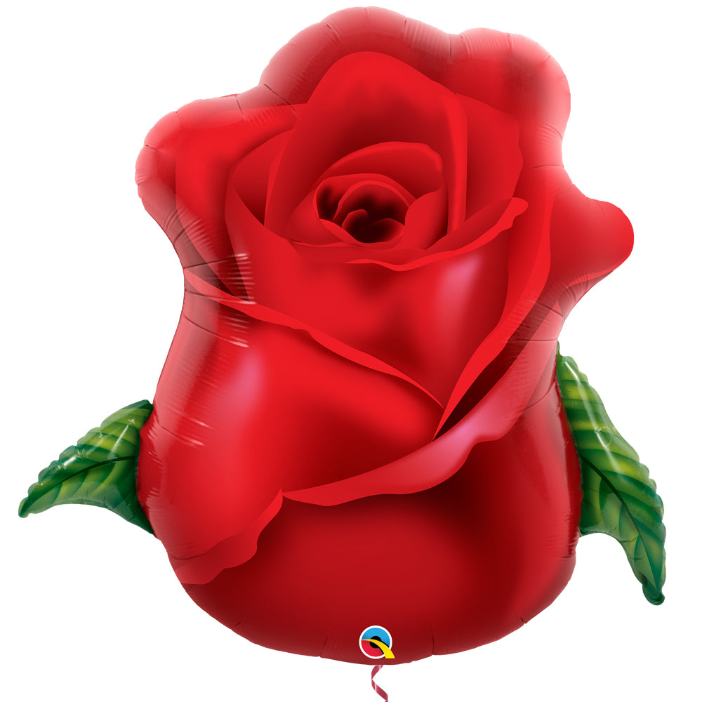 Red Rose Bud Supershape Foil Balloon - 33""